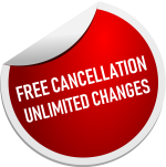 Free cancellations. Unlimited changes.